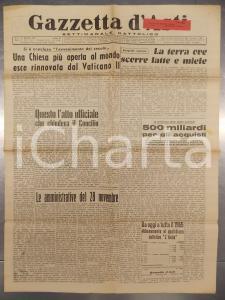 1965 GAZZETTA D'ASTI Chiusura del CONCILIO VATICANO II *Settimanale cattolico
