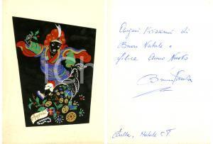 1958 BIELLA Biglietto di auguri *Autografo Bruno VIVENZA socialista
