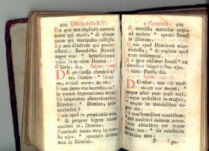 1830 ca UFFICIO DELLA B. V. MARIA Volume devozionale *DANNEGGIATO 486 pp.