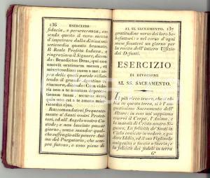 1830 ca STRENNA SPIRITUALE Volume devozionale esercizi *DANNEGGIATO 286 pp.