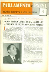 1957 PARLAMENTO E PAESE Vittorio BADINI CONFALONIERI sul mercato comune europeo