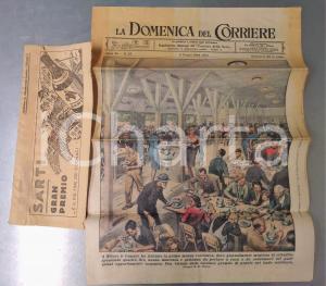 1944 RSI DOMENICA DEL CORRIERE Mensa collettiva a MILANO *Con fascetta originale