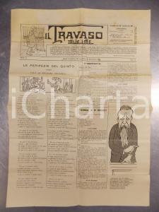 1901 IL TRAVASO DELLE IDEE Giornale satirico ILLUSTRATO caricature