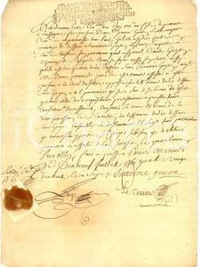 1680 BRAY (F) Procura al canonico Claude GUION per conto di Jeanne *Manoscritto