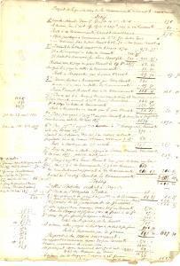 1855 ECHENON (F) Liquidazione beni in comunione tra sposi CHENOT - MARCHAND
