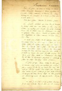 1786 DIJON (F) Lite per l'eredità del carpentiere Claude SORDET *Manoscritto