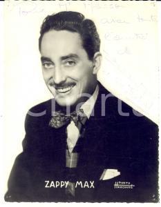 1950 ca RADIO Speaker ZAPPY MAX *Fotografia seriale HARCOURT con AUTOGRAFO