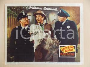 1948 LET'S LIVE AGAIN John EMERY catturato da poliziotti *Manifestino LOBBY CARD