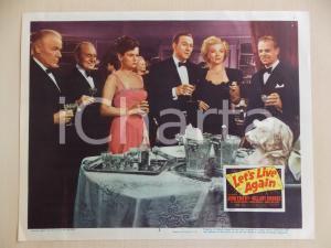 1948 LET'S LIVE AGAIN John EMERY beve champagne con cane *Manifestino LOBBY CARD