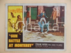 1957 GUN BATTLE AT MONTEREY Lee VAN CLEEF rissa saloon *Manifestino DANNEGGIATO