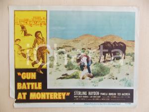 1957 GUN BATTLE AT MONTEREY Cowboy nel deserto *Manifestino DANNEGGIATO