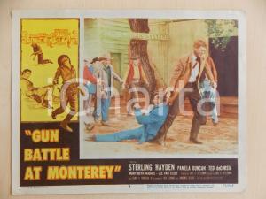 1957 GUN BATTLE AT MONTEREY Sterling HAYDEN trascina Lee VAN CLEEF *Manifestino