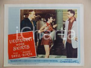 1956 LIEUTENANT WORE SKIRTS Tom EWELL con PIN UP *Manifestino LOBBY CARD