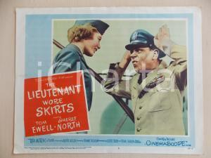 1956 LIEUTENANT WORE SKIRTS Tom EWELL Sheree NORTH Manifestino LOBBY CARD