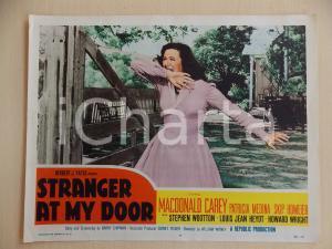 1956 STRANGER AT MY DOOR Patricia MEDINA terrorizzata *Manifestino LOBBY CARD