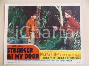 1956 STRANGER AT MY DOOR Skip HOMEIER punta pistola a Macdonald CAREY Lobby Card