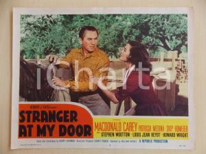1956 STRANGER AT MY DOOR Macdonald CAREY Patricia MEDINA Lobby Card Manifestino