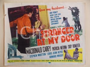 1956 STRANGER AT MY DOOR Macdonald CAREY Patricia MEDINA Manifestino DANNEGGIATO
