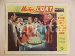 1957 MISTER CORY Martha HYER taglia torta di compleanno *Manifestino LOBBY CARD