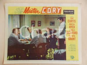 1957 MISTER CORY Tony CURTIS Charles BICKFORD Poker *Manifestino LOBBY CARD