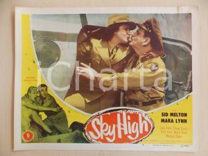 1951 SKY HIGH Sid MELTON Margia DEAN Bacio su aereo LOBBY CARD *Manifestino