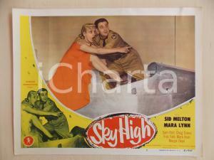 1951 SKY HIGH Sid MELTON e Mara LYNN su aereo militare LOBBY CARD *Manifestino