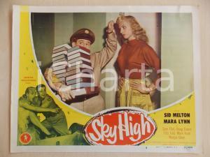 1951 SKY HIGH Sid MELTON porta pila di libri a Mara LYNN Manifestino LOBBY CARD