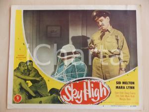 1951 SKY HIGH Sid MELTON con un ostaggio LOBBY CARD *Manifestino