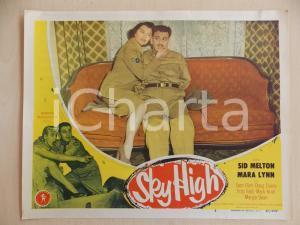 1951 SKY HIGH Margia DEAN Sid MELTON tied on the sofa LOBBY CARD *Manifestino