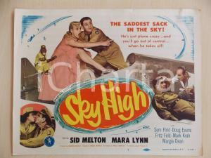 1951 SKY HIGH Sid MELTON Mara LYNN with monkey soldier LOBBY CARD *Manifestino