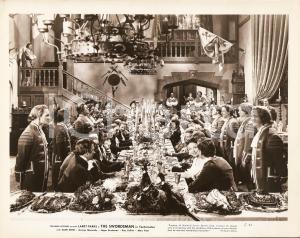 1948 THE SWORDSMAN Cornamuse allietano pranzo di nozze *Foto di scena