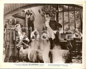 1948 THE SWORDSMAN Larry PARKS Edgar BUCHANAN davanti al camino *Foto di scena