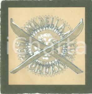 1937 MILANO O.N.D. Giornata della Neve *Bozzetto DISEGNATO A MANO per medaglia
