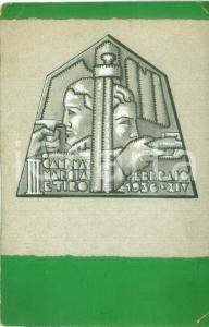 1936 MILANO III Campionato marcia e tiro *Bozzetto DISEGNATO A MANO per medaglia