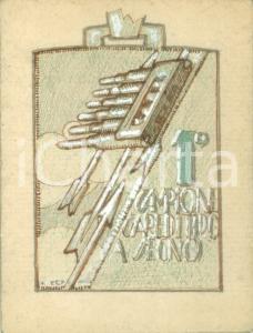 1935 ca MILANO I Campionato gare tiro a segno *Bozzetto DISEGNATO A MANO