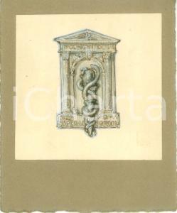 1935 ROMA Congresso Internazionale Ospedali Bozzetto DISEGNATO A MANO medaglia
