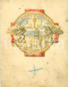 1929 CHIETI III Congresso Eucaristico Abruzzese Bozzetto DISEGNATO A MANO