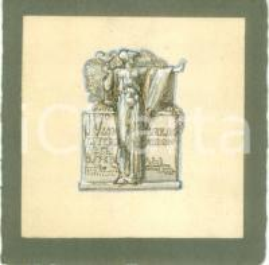 1935 ROMA IV Congresso degli Ospedali Bozzetto DISEGNATO A MANO per medaglia