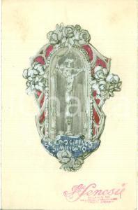 1935 ca SAN MINIATO (PI) Santissimo Crocifisso *Bozzetto DISEGNATO A MAN