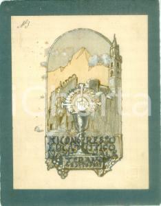 1935 TERAMO Congresso Eucaristico Nazionale *Bozzetto DISEGNATO A MANO medaglia