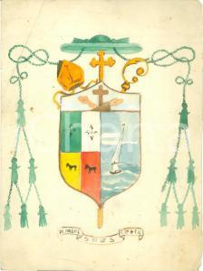 1935 ca Stemma vescovile In mari spes certa *Bozzetto DISEGNATO A MANO