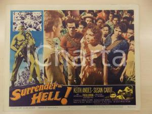 1959 SURRENDER HELL Keith ANDES - PARALUMAN John BARNWELL Manifestino LOBBY CARD