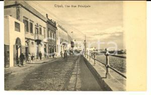 1915 ca TRIPOLI (LIBIA) Strada principale *Cartolina postale ANIMATA FP NV