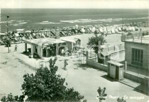1956 GATTEO A MARE (FC) Spiaggia colonia SAN LORENZO *Cartolina FG VG