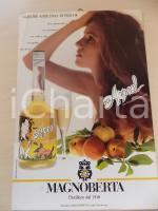 1970 ca Distillerie MAGNOBERTA Liquore di pesche SEX APPEAL Locandina 22x34 cm