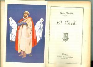 1933 Clara SHERIDAN El Caid Prima edizione SALANI *Volume