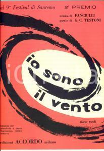 1959 Festival di SANREMO Arturo TESTA Io sono il vento *Spartito ACCORDO