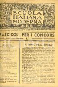 1936 SCUOLA ITALIANA MODERNA Rivista per concorsi insegnanti *Anno XLV suppl. 11