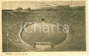1943 VERONA L'interno dell'Arena *Cartolina postale FP VG