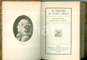 1930 BEAUMARCHAIS REGNARD LESAGE Théatre au XVIII siècle *Bibliothèque GRASSET